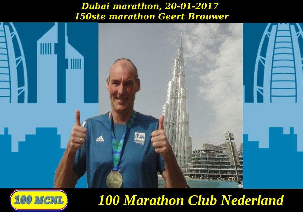 150ste marathon Geert Brouwer