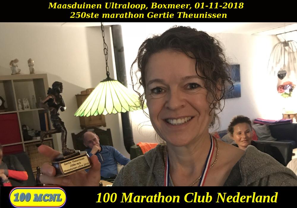 250ste marathon Gertie Theunissen