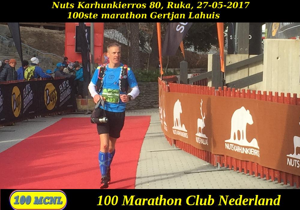 100ste marathon Gertjan Lahuis