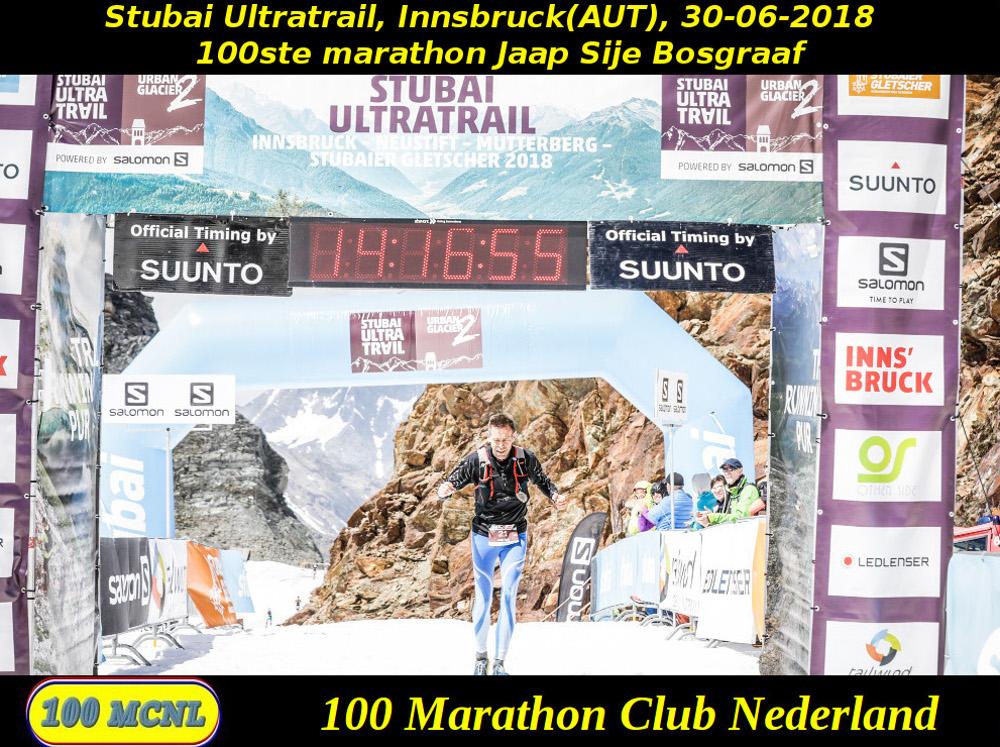 100ste marathon Jaap Sije Bosgraaf