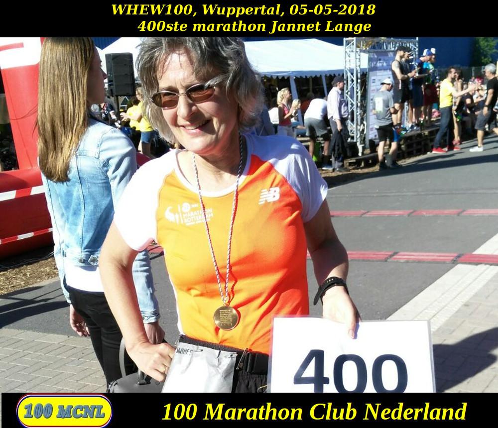 400ste marathon Jannet Lange