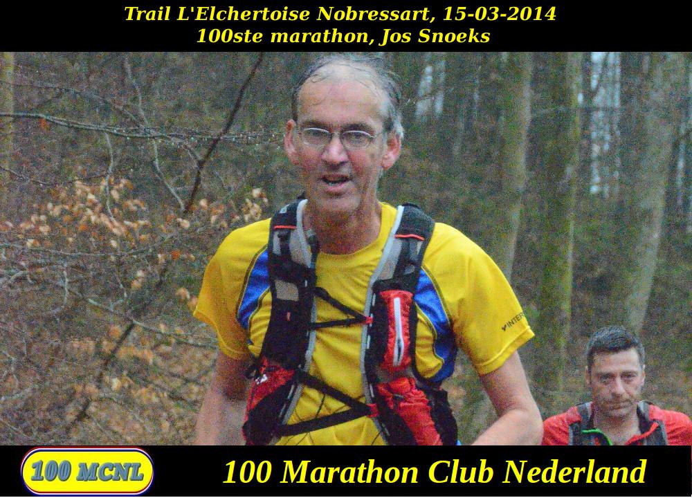 100ste marathon Jos Snoeks