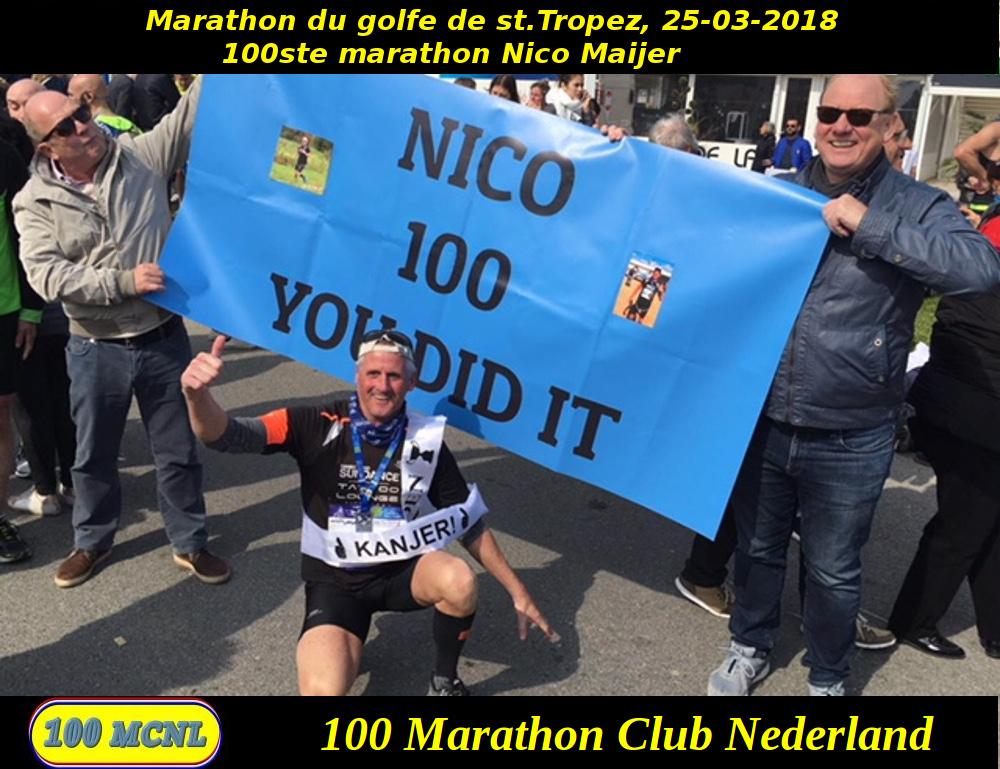 100ste marathon Nico Maijer