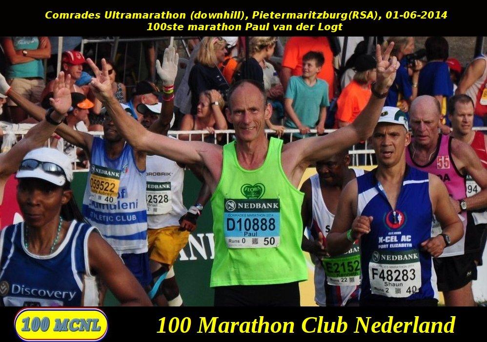 100ste marathon Paul van der Logt