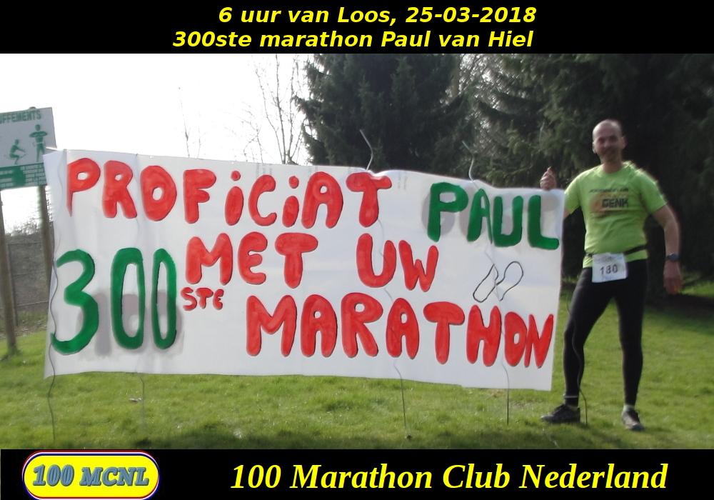 300ste marathon Paul van Hiel