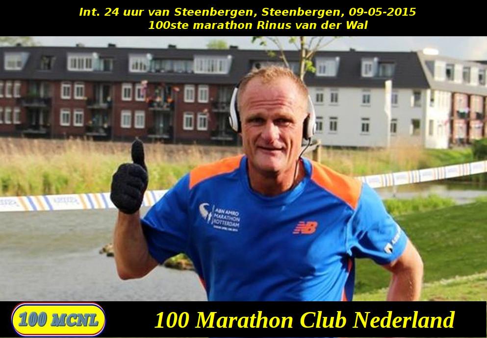 100ste marathon Rinus van der Wal
