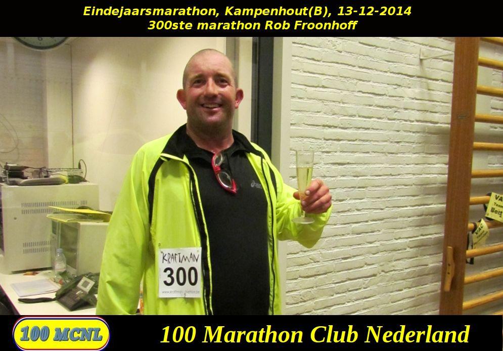300ste marathon Rob Froonhoff