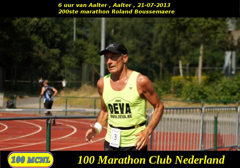 200ste marathon Roland Boussemaere