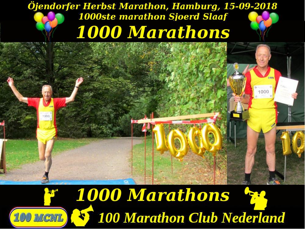 1000ste marathon Sjoerd Slaaf