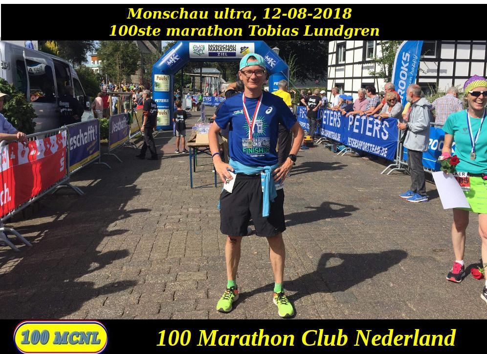 100ste marathon Tobias Lundgren