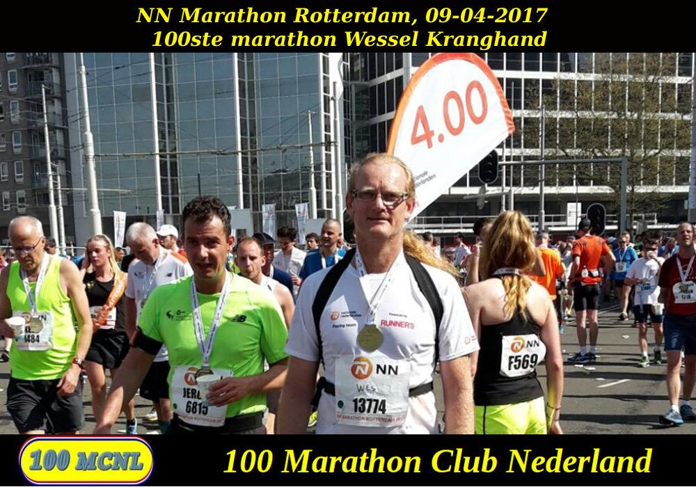 100ste marathon Wessel Kranghand