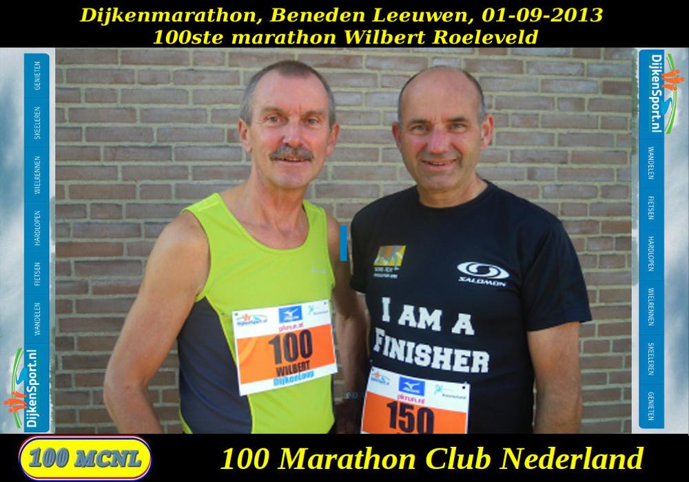 100ste marathon Wilbert Roeleveld